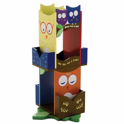 Owl Revolving Bookcase