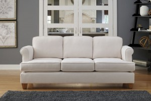 Megan with Box T-cushions in Satchi Ivory