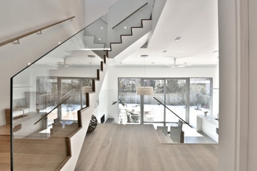 Baked White Oak Surface Staircase Designs