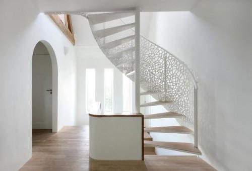 Laser-cut Lattice Staircase
