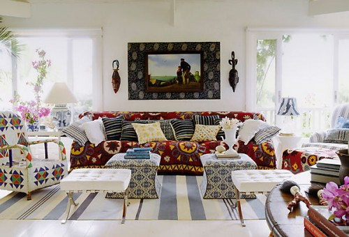Use of the outdoor rugs inside