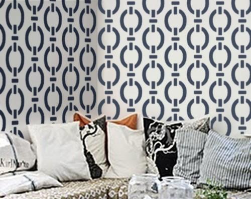 stencils in modern wall home decor