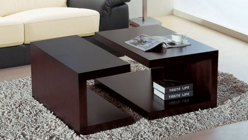 Center Table For Living Room. Modern Coffee Table Bamboo Furniture