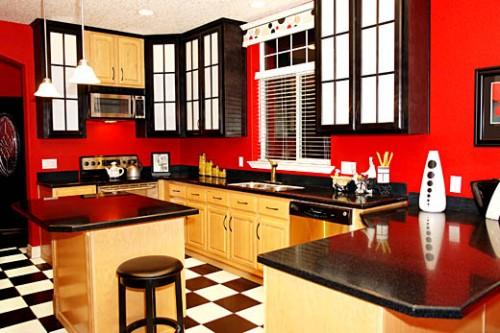 Red in Kitchen