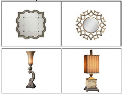 mirrors and lamps