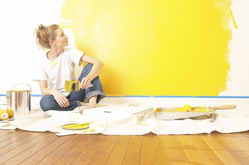Painting with sustainable paint