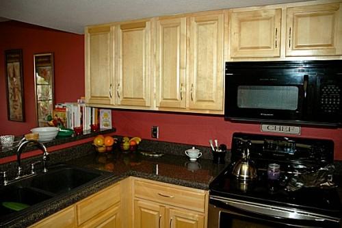 Wheat-board cabinets