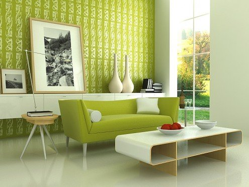 Green Home Decorating Color