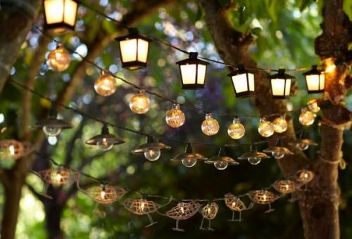 Hang string lights