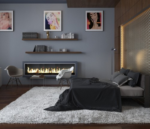 Stunning Use Grey Blue For Spacious Bedrooms With Blue Grey Bedroom