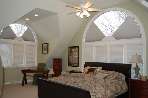 Cellular moveable arches shades