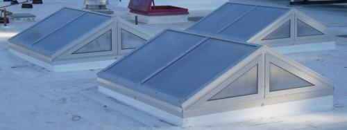 Single slope skylights
