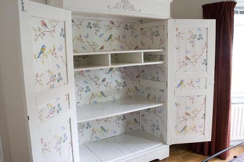 Wallpapering a Wardrobe