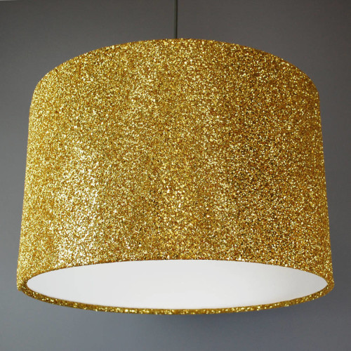 Lamp covered in sequins and glitter