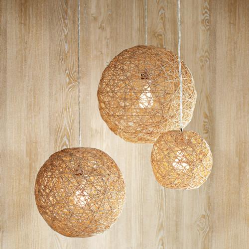 Pendant lamp made from hemp string