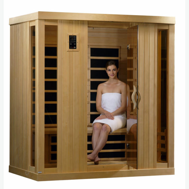 Wardrobe attached with sauna room