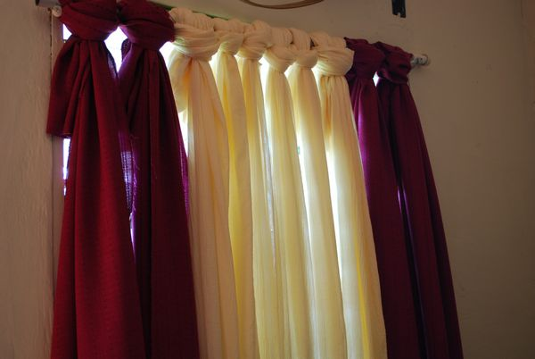 Make Your Own No-Sew Curtain