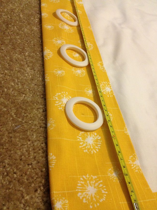 No-Sew Curtain with Grommets