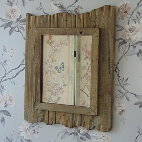 Dark Driftwood Mirror
