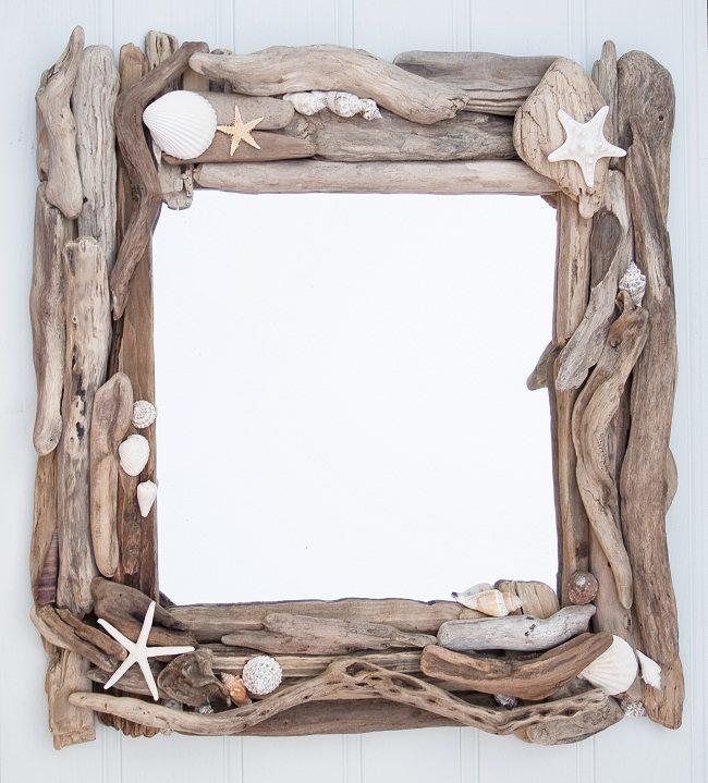 Driftwood Beach Mirror