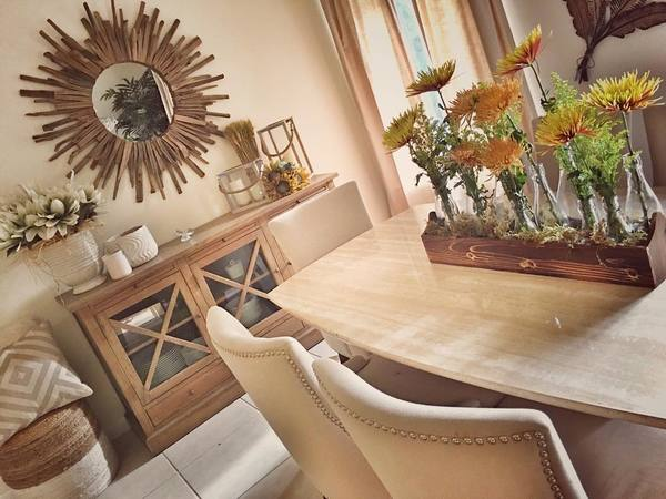 Driftwood Dining Room Mirror