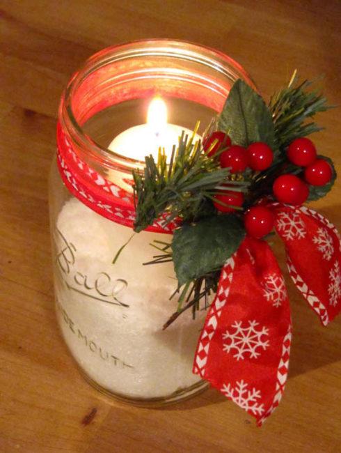 Christmas Candle Jars