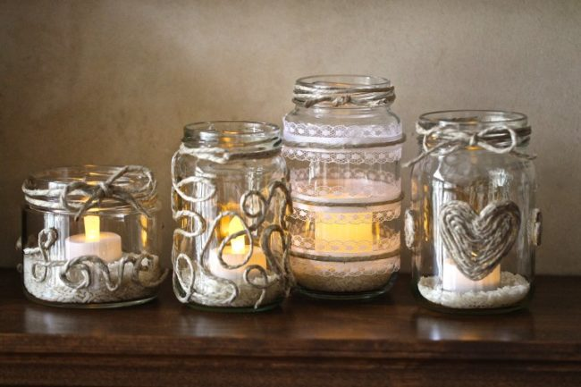 Decorating Glass Candle Jars