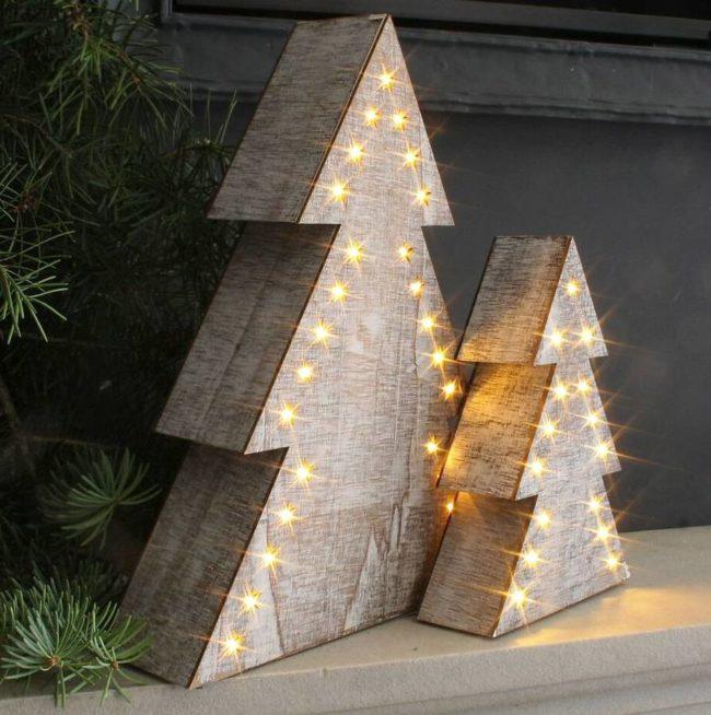 Wooden Led Christmas Tree