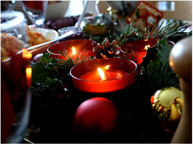 wooden Christmas tree table decoration