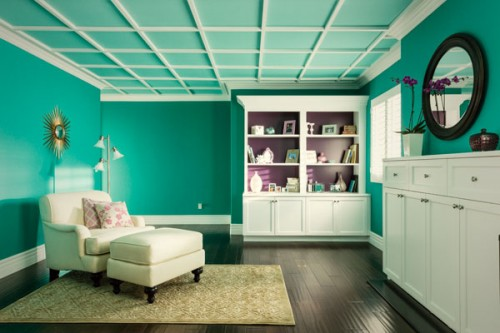 teal color schemes for bedrooms 10 bold ceiling colors inhabit 19942