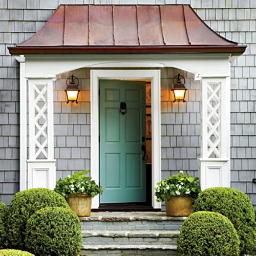 Grey Front Home Entrance Ideas With Small Terrace Can Add: Ways To Add Curb Appeal To Your Home