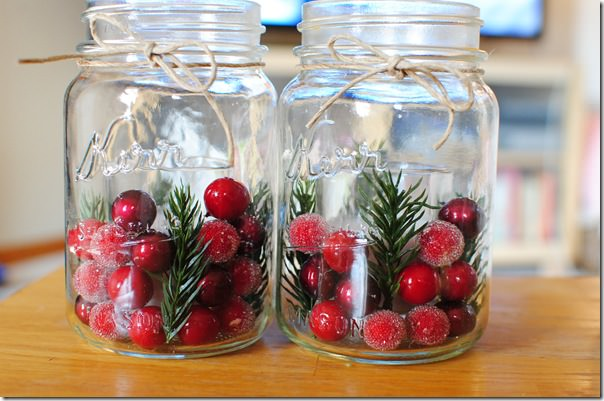 Christmas Decorations In Glass Jars Inhabit Blog